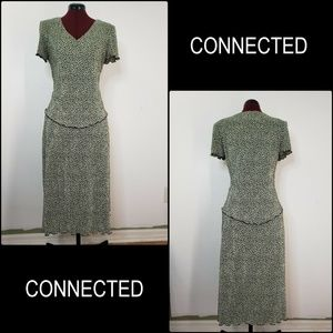 Connected Apparel Woman Pleated Layer Dress Size 6